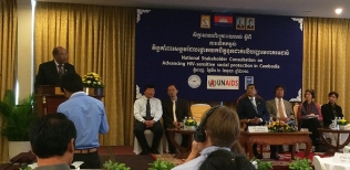 Cambodia shows commitment to advancing social protection to people living with HIV