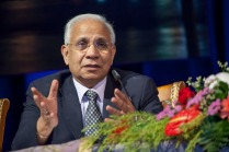 "UN Special Envoy on AIDS for Asia and the Pacific, Prasada Rao, spoke at a number of key sessions at the Congress. He underlined the importance of ensuring gains made in the HIV response over the last decades are built upon. ""HIV needs to stay on the post-2015 development agenda. We have made incredible strides but we must do more. 'Getting to Zero' is more than a slogan and we must make it a reality"" he said. Credit: UNAIDS/V.Dithajohn"