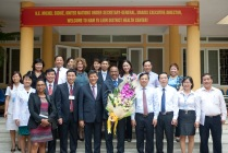 Group photo at the end of the visit to South Tu Liem district health centre