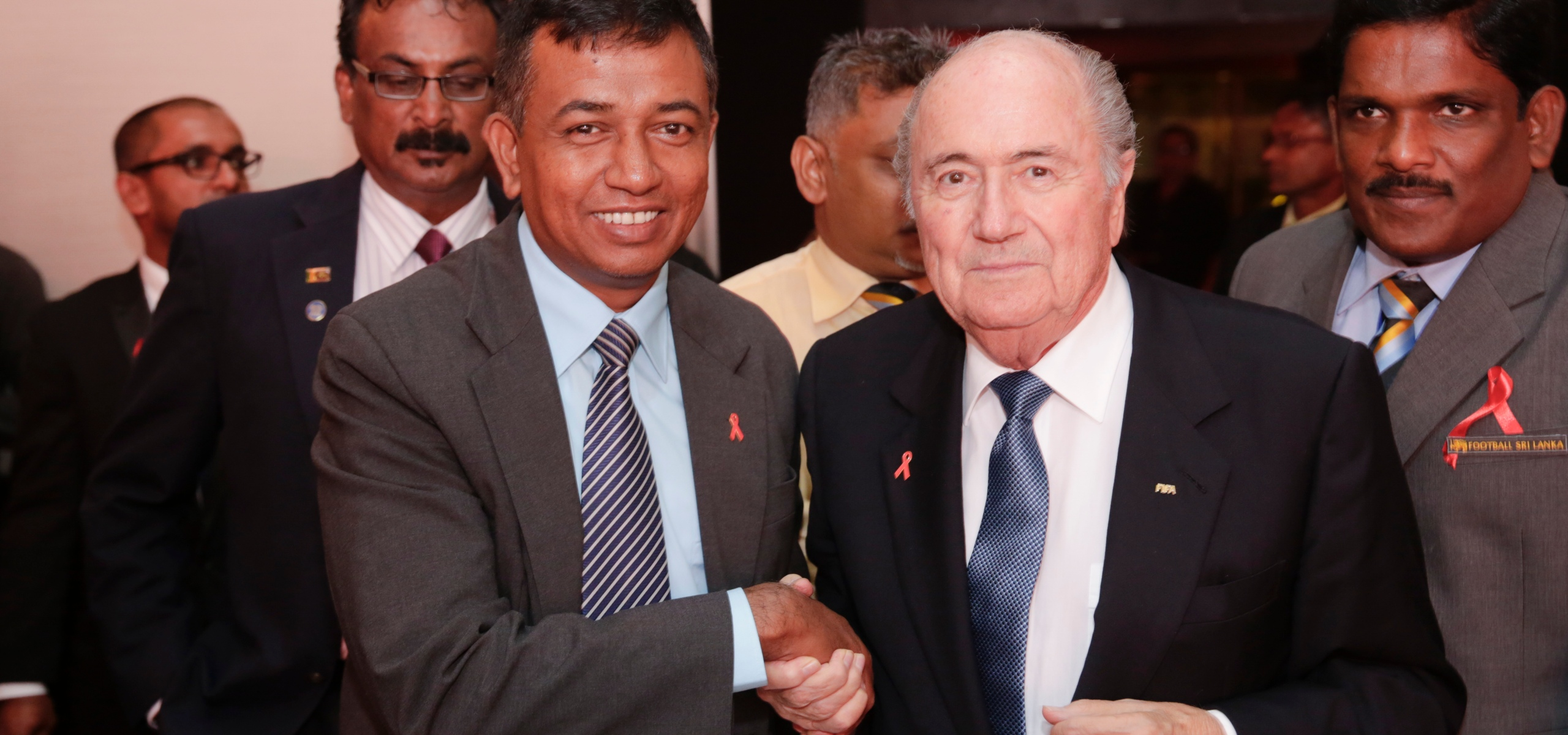 "FIFA President launches ""Protect the Goal"" campaign in Sri Lanka"
