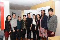 UNAIDS international goodwill ambassador Victoria Beckham with UNAIDS China country office team.